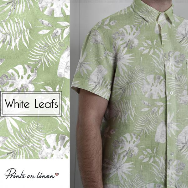 Shirt / White Leafs