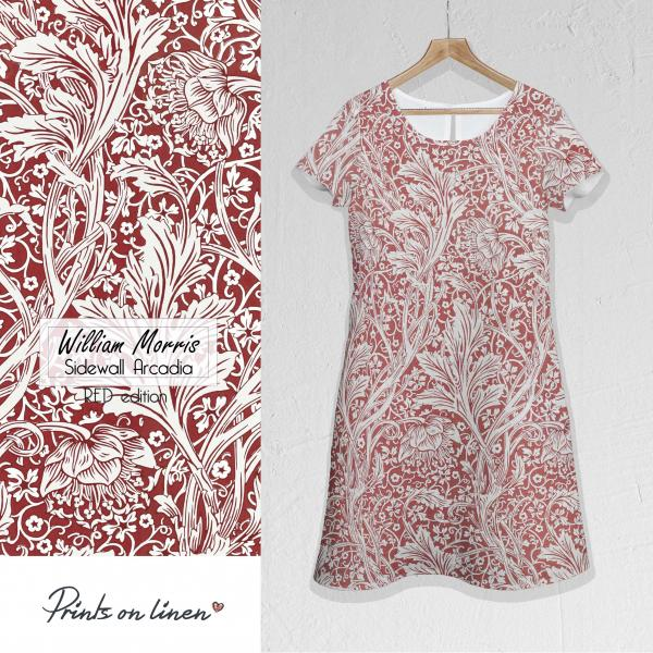 Linen dress / Sidewall Arcadia (Red edition)