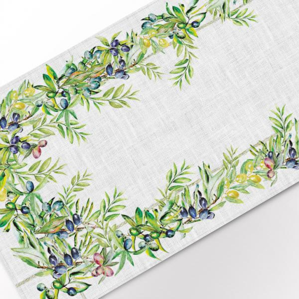 "Table runner ""Olives tree"""