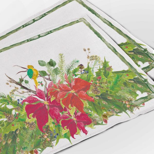 Placemats / Poinsettia wreath