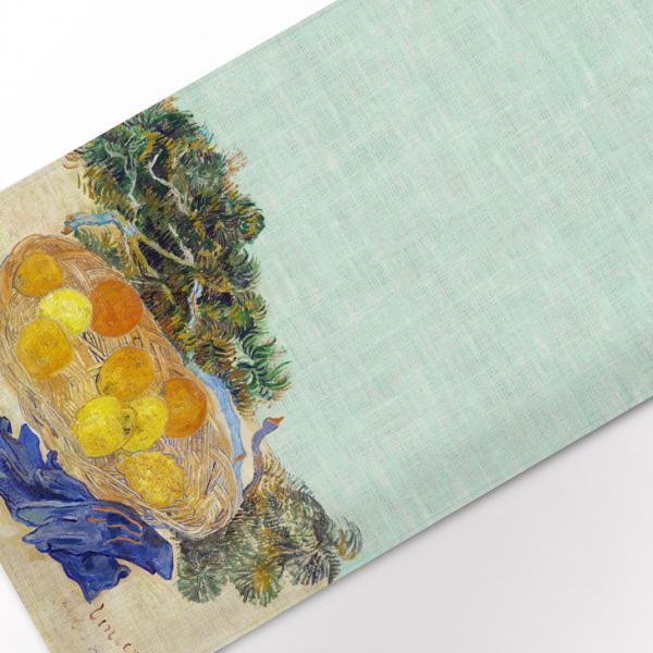 Placemats set / Still Life of Oranges and Lemons with Blue Gloves