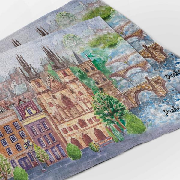 Placemats set / Prague city ll