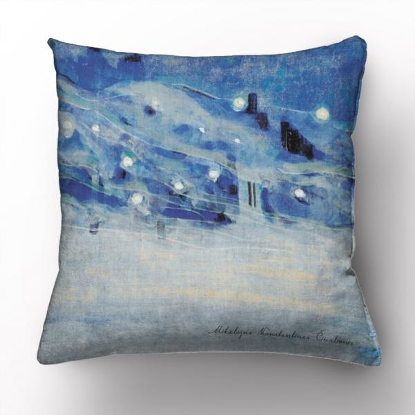 Cushion cover / Lights on the Ganges