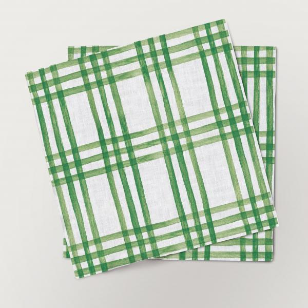 Napkins set / Christmas Letters (Ornaments) Green