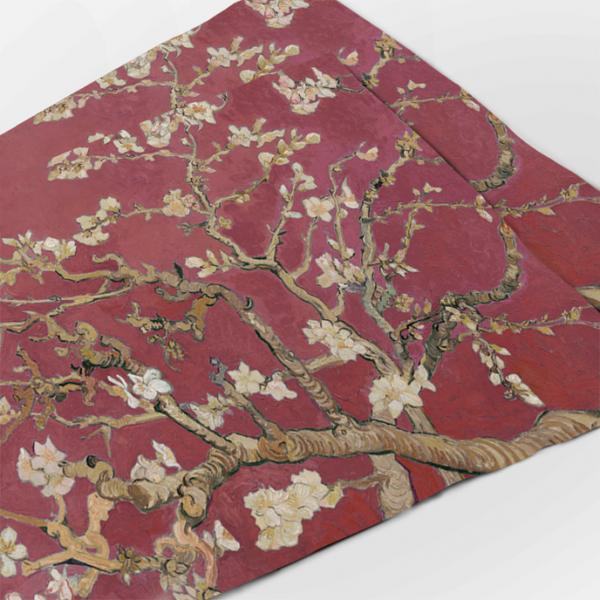 """Placemats """"Almond blossom"""" / Wine red"""