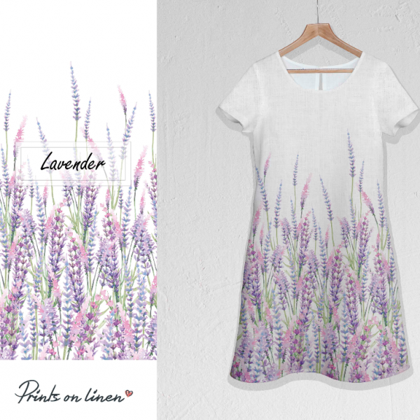Linen dress / Lavenders