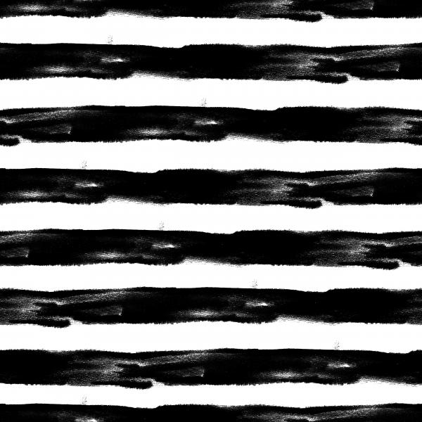 Black and White Watercolor Striped pattern