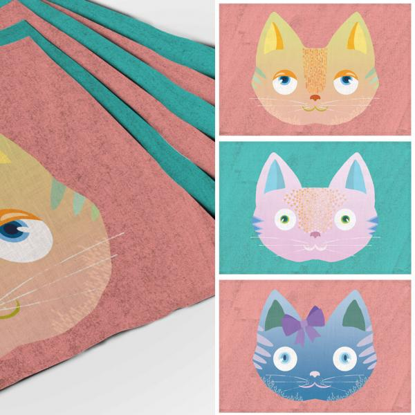 Placemats set / New Age Cats