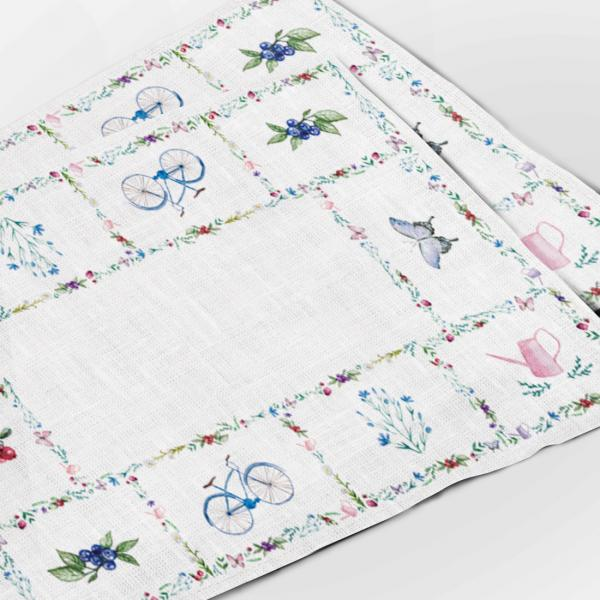 Placemats / Bicycle and Butterfly