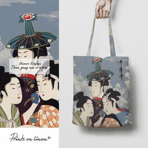 Tote bag / Three Young Men or Women