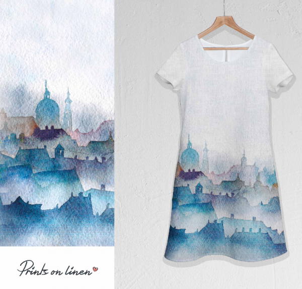 Dress / Prague city print