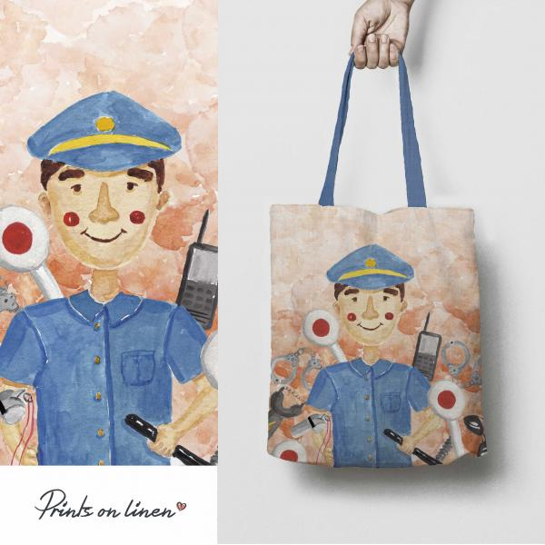 Tote bag / Police Officer (man)