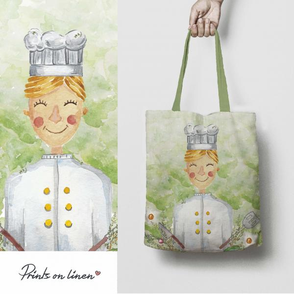 Tote bag  / Chef woman