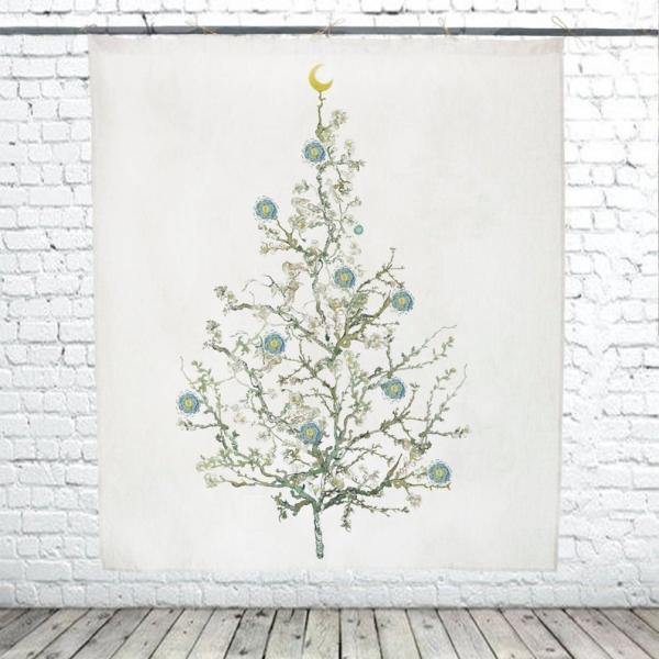 Christmas Tree  / Almond Blossom (white)