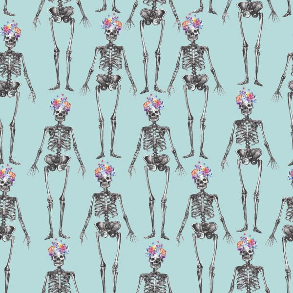 Skulls pattern MINT background