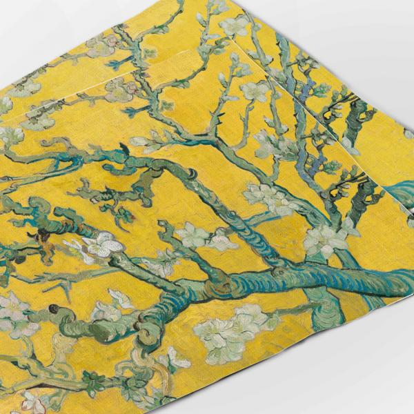 Placemats set / Almond Blossom (yellow edition)