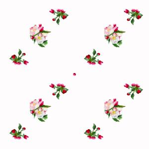 Apple blossom pattern