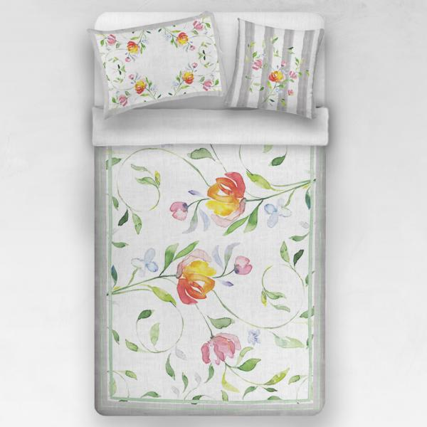 Linen bedding set / Colorful flowers
