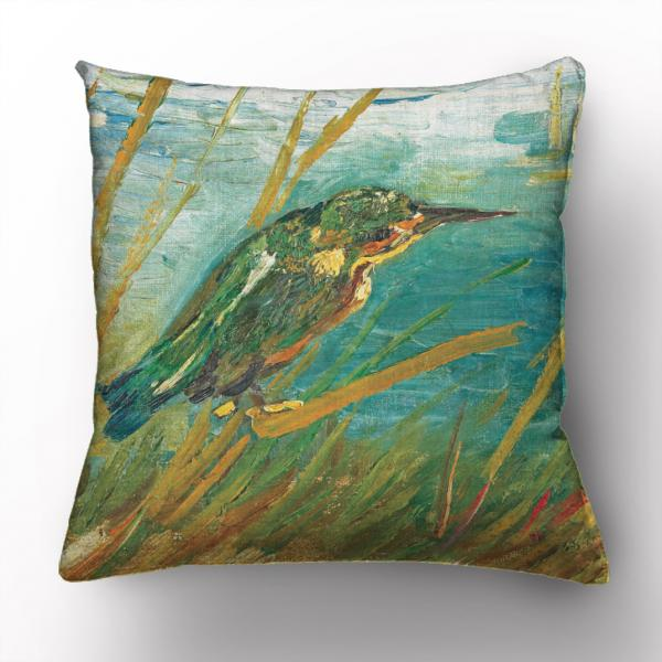 Cushion cover / Kinfisher By The Water Side