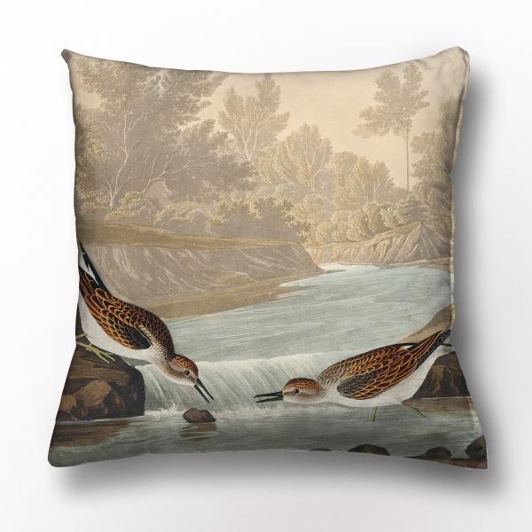 Cushion cover / Little Sandpiper from Birds of America