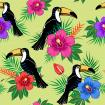 Tropical bird with flowers pattern