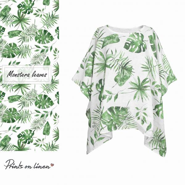 One size tunic / Monstera leaves