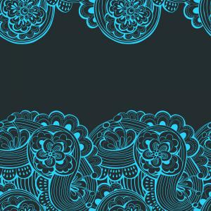 Abstract lacy pattern on the dark background