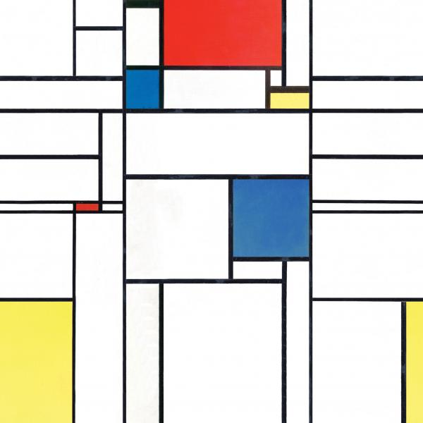 Mondrian Pattern Red, Yellow, Blue