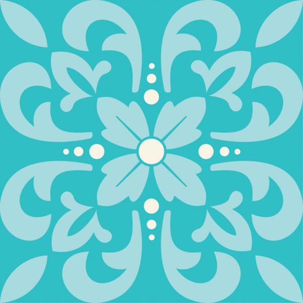 Moroccan Damask - Turquoise