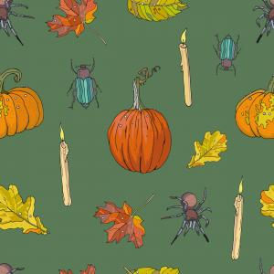 Autumn Halloween pattern