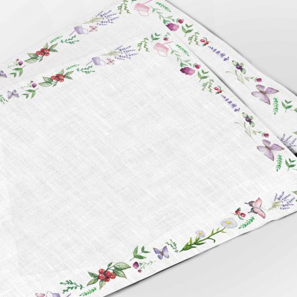 Placemats / Bicycle and Lavenders II