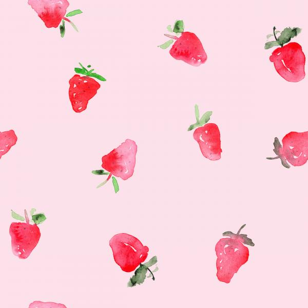 Watercolor baby strawberries