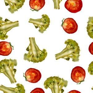 Broccoli-tomato pattern
