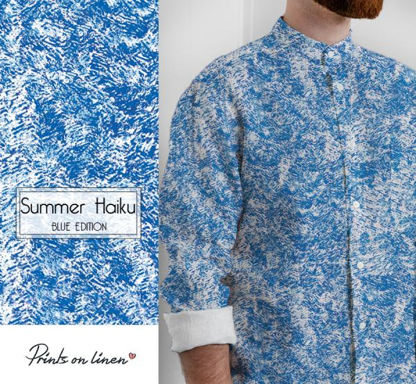 Mens shirt / Summer Haiku