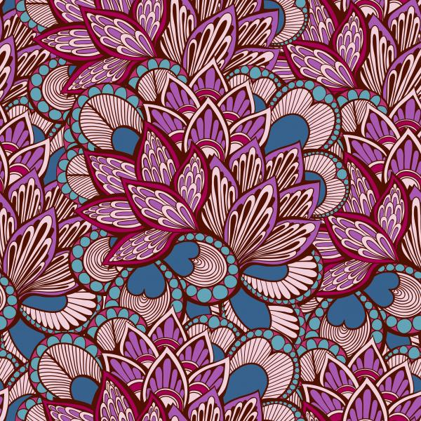 Foral pattern boho style