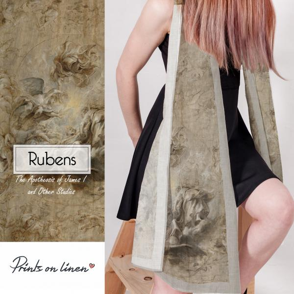 Linen scarf / The Apotheosis of James I and Other studies