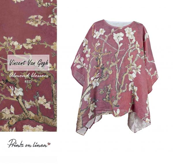 One size tunic / Red blossoms