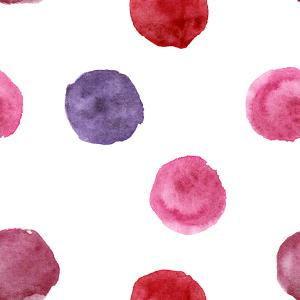 Pink-purple watercolor polka dot pattern
