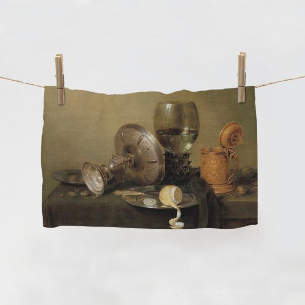 Kitchen Towel / Still Life with a gilded Beer Tankard