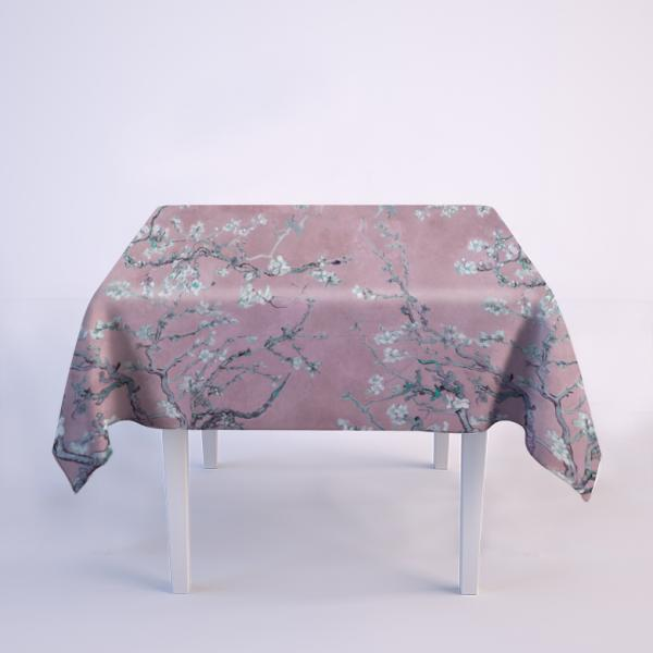"""Tablecloth """"Almond blossom"""" / Silver pink"""