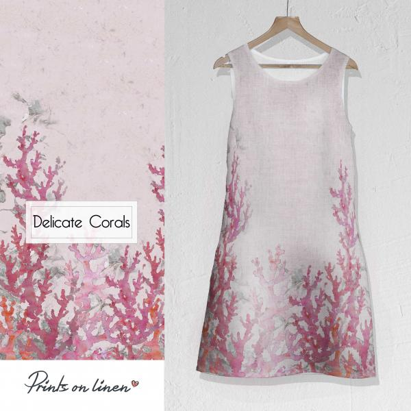 Linen dress / Delicate corals