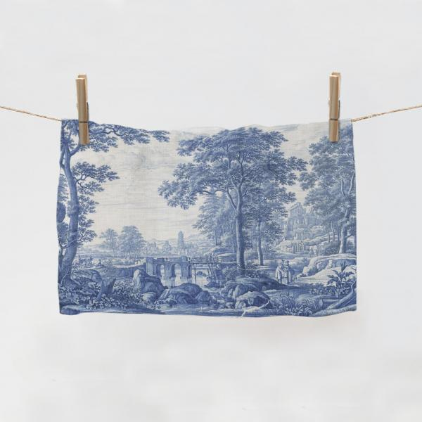 Kitchen Towel / Plaque with an  Italianate Landscape