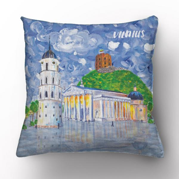 Cushion cover / Let's meet in Vilnius