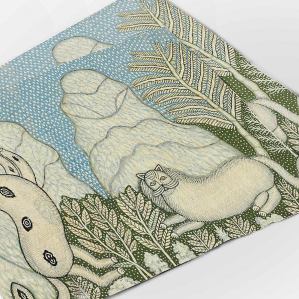 Placemats set / Cats in a Snow