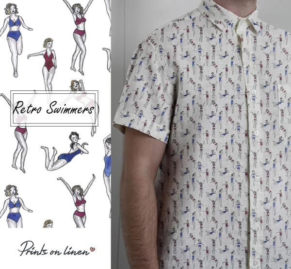 Mens shirt / Retro swimmers