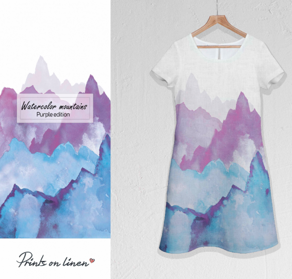 Dress / Watercolour mountains / Purple edition