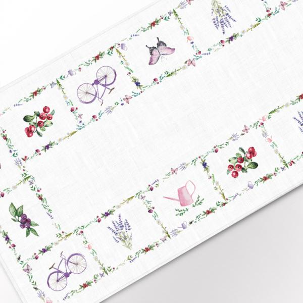 Table runner / Bicycle and Lavenders