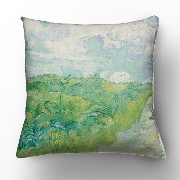 Cushion cover / Green Wheat Fields