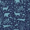 Winter pattern with forest animals
