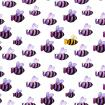 """Bee different"" watercolor pattern"
